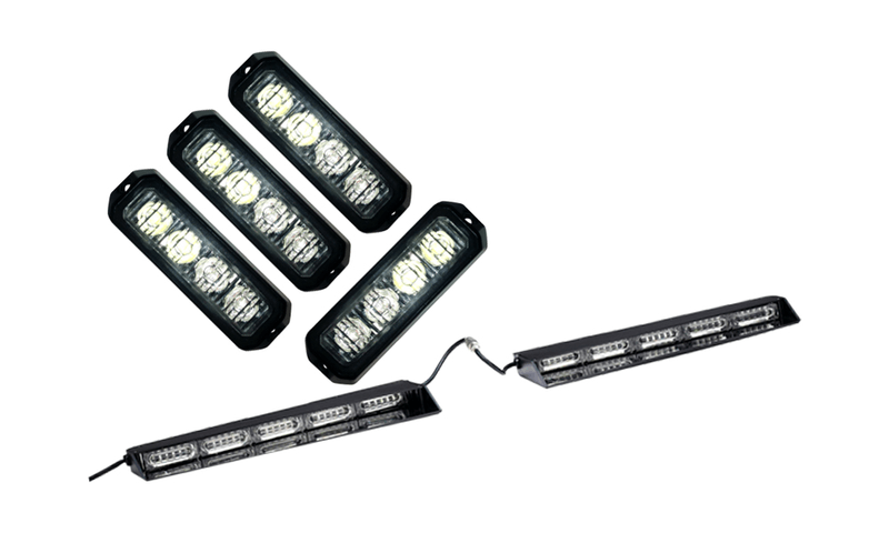 under cover vizor a4 grille led warning and emergency light