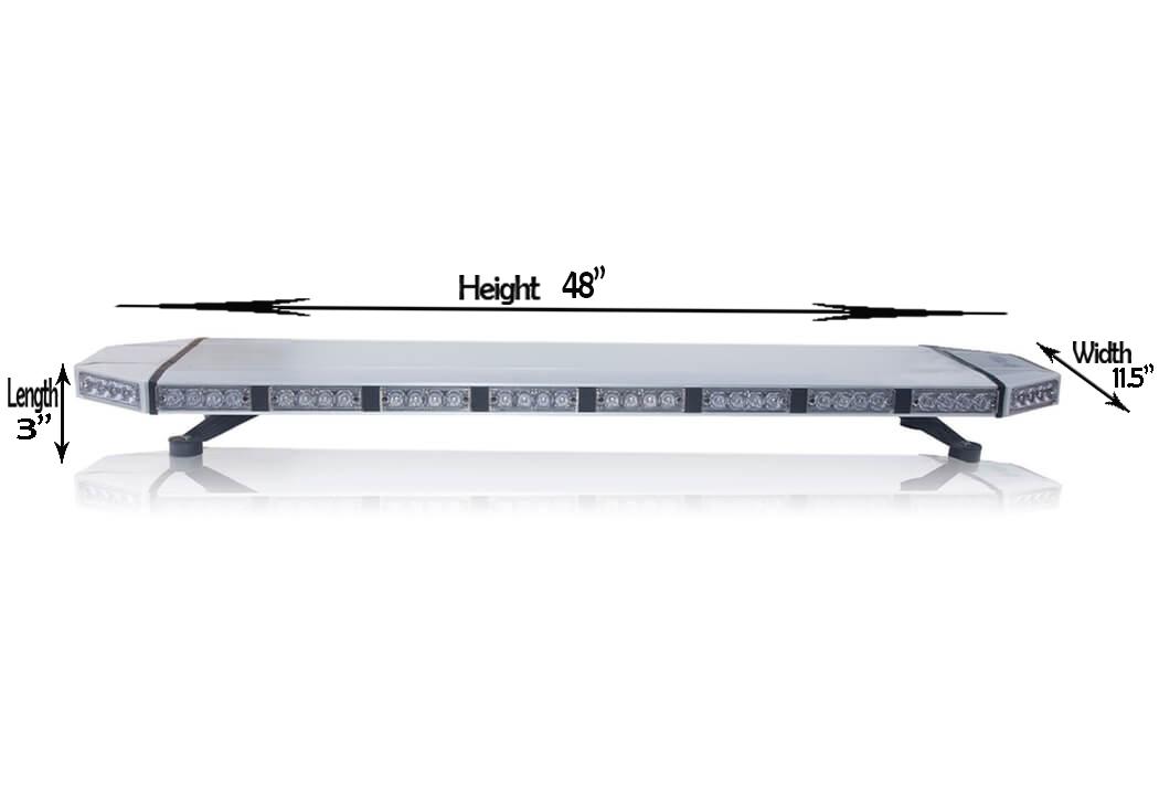 48 saber tir light bars 2 0 emergency led led outfitters