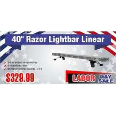 """40"""" RAZOR Linear Light Bar Labor Day Sale"""