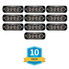 DAMEGA FLEX 4 SLIM LED GRILLE LIGHT 10 PACK