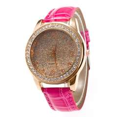 Women Quartz Watch Ladies (Pink)