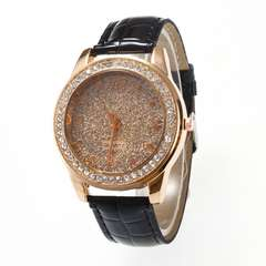 Women Quartz Watch Ladies (Black)