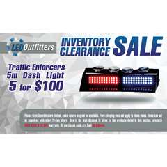 INVENTORY CLEARANCE SALE TRAFFIC ENFORCER 5-M 5 PACK