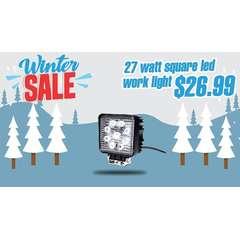 "WINTER SALE 27 WATT LED WORK LIGHTS 4"" SQUARE"