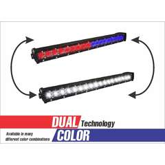18 LED DUAL COLOR COMBO SPOT AND FLOOD LIGHT SINGLE ROW