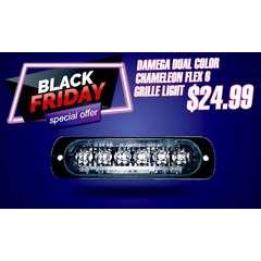BLACK FRIDAY SALE DAMEGA DUAL COLOR CHAMELEON FLEX 6 GRILLE LIGHT