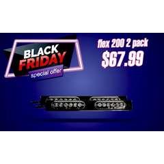 BLACK FRIDAY SALE FLEX SERIES 200 WARNING BAR STICK LIGHT 2 PACK