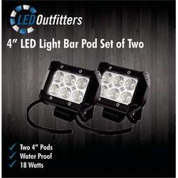 "DaMeGa Set of Two 4"" LED Off Road Work Lights"