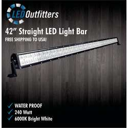 "Super LED 42"" Straight LED Light Bar Combo Off Road Work Light"