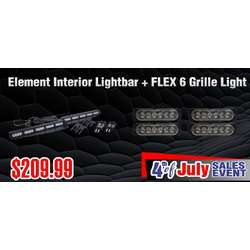 DaMeGa Element Interior Lightbar + 4 FLEX 6 -4th of July sale