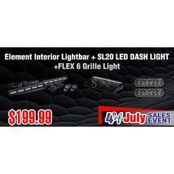 DaMeGa Element Interior Lightbar + 2 FLEX 6 + SL20 4th of July sale