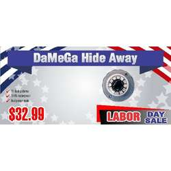 DaMeGa Spear Series Hide Away with Built-In Flasher LAbor Day Sale