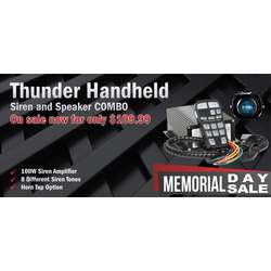 DaMeGa Thunder Handheld Siren with Slim speaker Memorial Day Sale