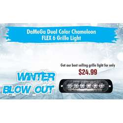 WINTER SALE DAMEGA DUAL COLOR CHAMELEON FLEX 6 GRILLE LIGHT 1