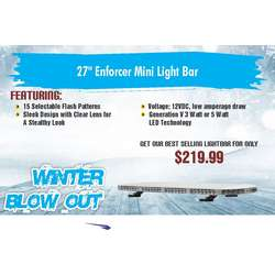 "WINTER SALE DAMEGA 27"" ENFORCER MINI LIGHT BAR"