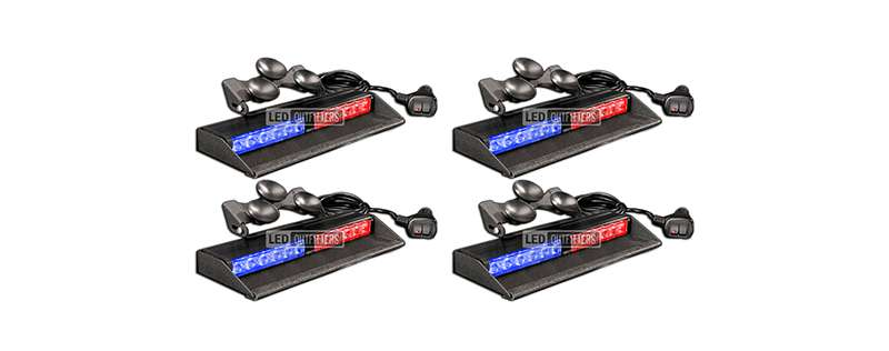 ENFORCER DASH LIGHT 2 HEAD 4 PIECE SET