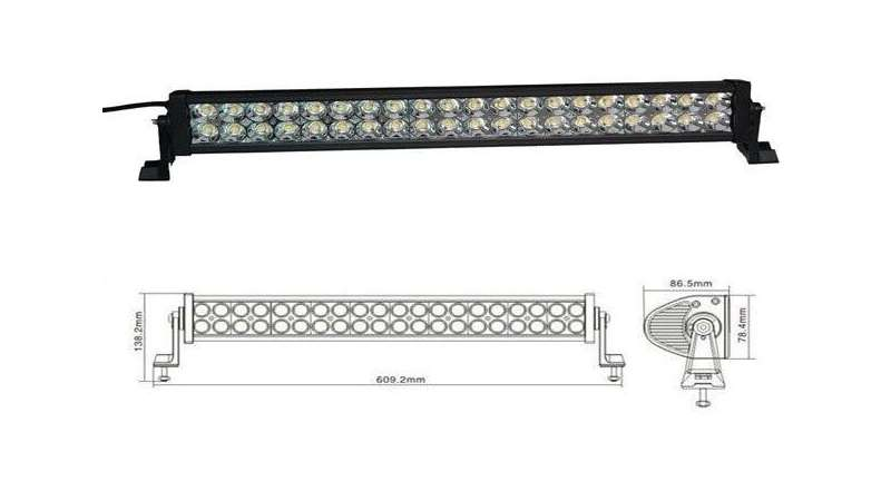 "20"" LED-22"" OFF ROAD LED LIGHT BAR FLOOD/SPOT COMBO BEAM- 3W LED-120W-7500 LUMEN"