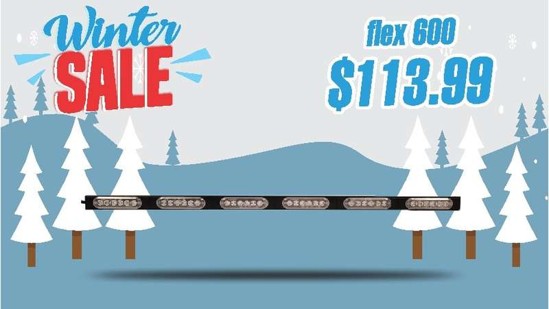 WINTER SALE FLEX SERIES 600 WARNING BAR STICK LIGHT AND TRAFFIC ADVISOR