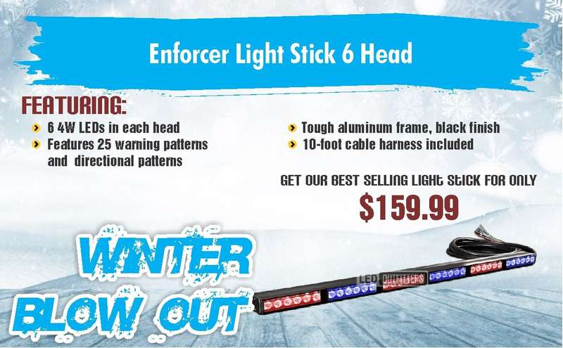WINTER SALE ENFORCER LIGHT STICK 6 HEAD