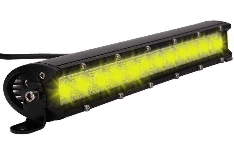 12 LED DUAL COLOR COMBO SPOT AND FLOOD LIGHT SINGLE ROW