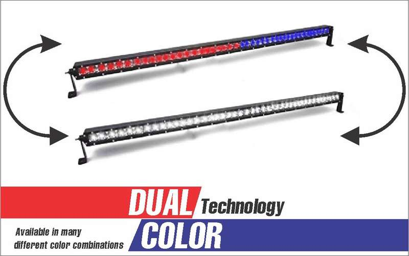 48 LED DUAL COLOR COMBO SPOT AND FLOOD LIGHT SINGLE ROW