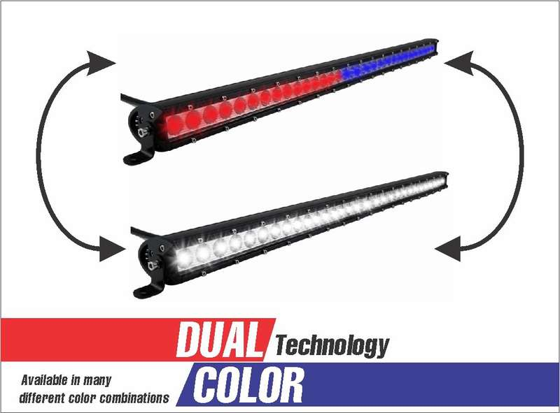 30 LED DUAL COLOR COMBO SPOT AND FLOOD LIGHT SINGLE ROW