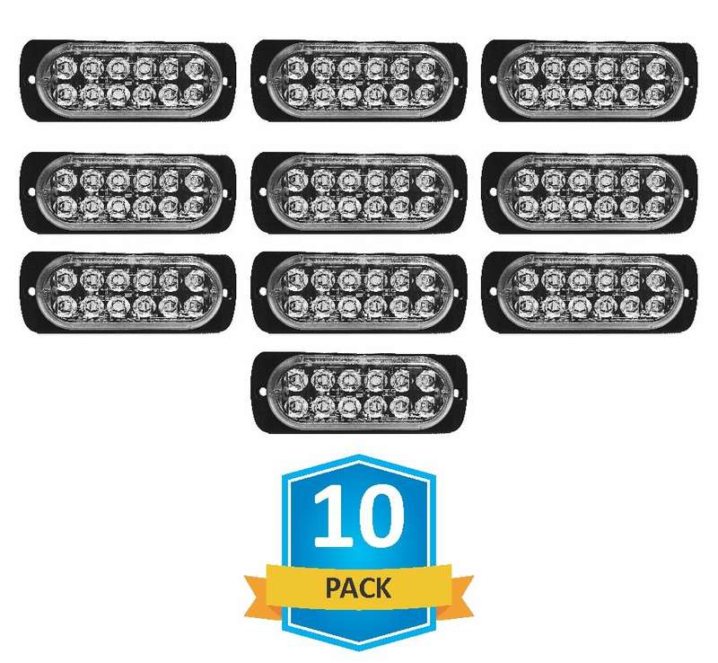 DAMEGA FLEX 12 SLIM LED GRILLE LIGHT 10 PACK
