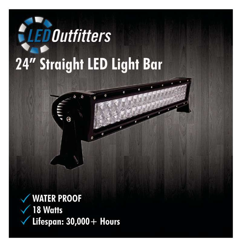 "24"" SUPER LED SPOT AND FLOOD COMBO OFF ROAD WORK LIGHT"
