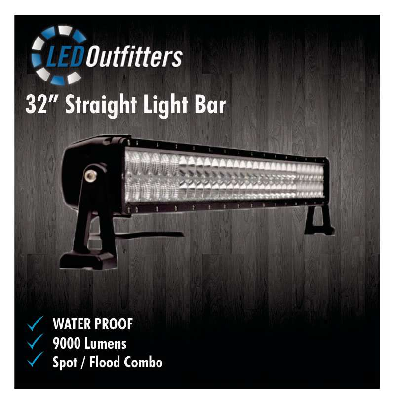 "32"" SUPER LED SPOT AND FLOOD COMBO OFF ROAD WORK LIGHT"
