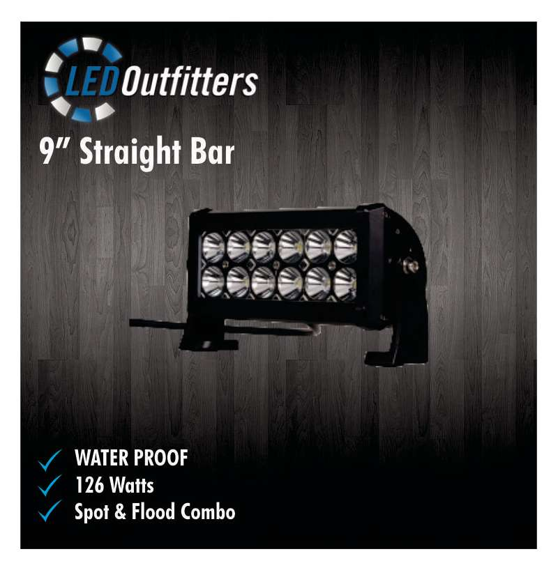 "9"" SUPER LED SPOT AND FLOOD COMBO OFF ROAD WORK LIGHT"